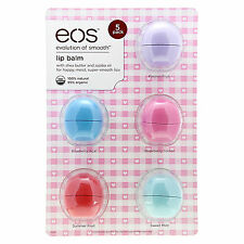 EOS Lip Balm Pack of 5 Smooth Sphere 100% Natural 100% Authentic 95% Organic New