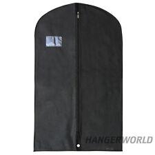 Housse pour costumes/manteaux/vêtements noire opaque respirante Hangerworld™