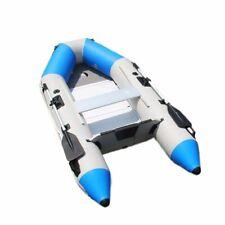 KA Inflatable Boat Dinghy Raft Kayak Aluminum Alloy Floorboard 2 Oars 7.5ft Blue