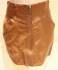H&M Faux Leather Patternless Short/Mini Skirts for Women