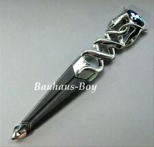 KILT SGIAN DUBH DUMMY SAFETY SAPPHIRE BLUE STONE HIGHLAND SERPENT CHROME FINISH