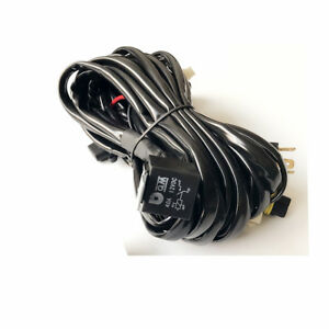 Plug and play 12V Car LED Light Bar Wiring Loom Harness Kit High Beam 9005/H4