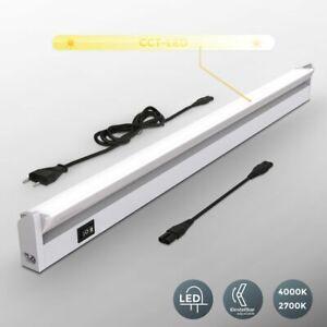 Réglette LED barre lumineuse placard pivotable cuisine atelier couleur argent