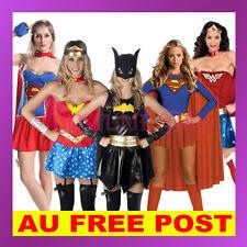 Superhero Superwoman Supergirl WonderWoman Batgirl Halloween Fancy Dress Costume