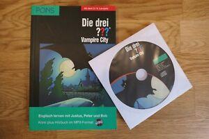 Die drei ??? Vampire City (drei Fragezeichen) Pons Englisch lernen mit CD