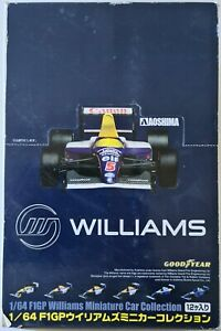Aoshima 1/64 F1 GP Williams Miniature Car Collection Diecast 12 pc Set