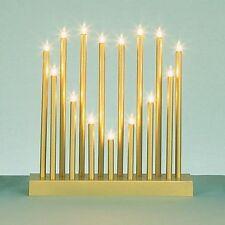 Premier Decorations 15 Bulb Gold Heart Shape Christmas Candle Bridge Decoration