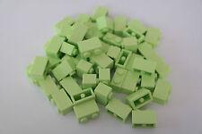 50 Lego Bausteine 1x2 gelbgrün hellgrün NEU Grundsteine Basic Steine 3004