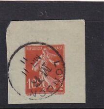 France 1911 10c London Mr Cancel Postal Stationary Cut Out Vgc