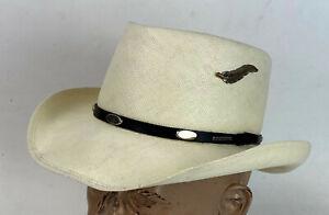 STETSON SHANTUNG PANAMA MEN'S STRAW HAT SIZE 7 1/8