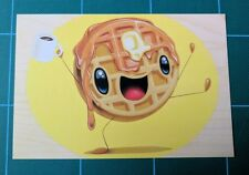 Cuddly Rigor Mortis Mr Good Morning Waffle Happy Food Showcard mini Print art