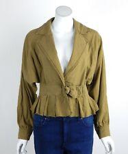 Free People Joani Jacket Linen Blend Slouchy Belt Accent Peplum Hem XS New