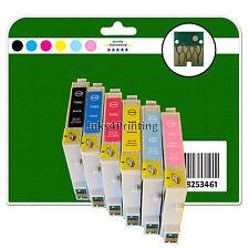 Ogni 6 CARTUCCE INCHIOSTRO PER EPSON R200 R220 R300 R300M R320 R340 NON-OEM e481-6