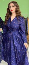 Bnwt Sz16 Lindy Bop Shannon Winter Scene Dress Vintage 40s 50s Style £40