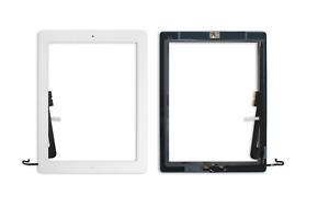 iPad 4 Touchscreen Digitizer Display Front Glas Scheibe + Home Button weiss