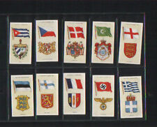 cigarette cards national flags & arms 1936 full set