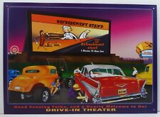 Refreshment Stand Drive In Theater Car Metal Sign