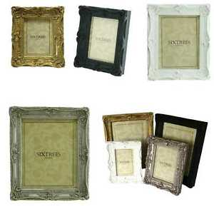 Ornate Swept Shabby Chic Vintage Antique Style Photo Frames Picture 6x4 7x5 8x6