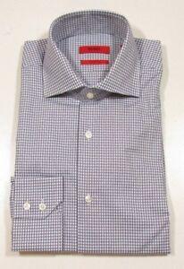 "Hugo Hugo Boss Red Label ""C-Gerald"" Gray & Blue Check Regular Fit Dress Shirt"