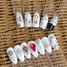 40 Sheets Nail Sticker Water Decals Flower Cat Butterfly Transfer Nail Art Decor