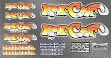 1987 87' 86' honda TR200 FATCAT FAT CAT 14pc Graphic Stickers DECAL SET