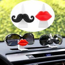 Car Red Llips Sunglasses Clip Glasses Holder Moustache Beard Glasses Stand-