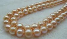 """12-13MM natural South Sea Pink Baroque Pearl Loose Beads 15"""""""