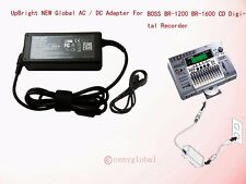 AC Power Adapter For Roland Boss BR-1200CD BR-1600CD V2 Digital Recording Studio