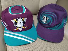 Lot 2 Anaheim Mighty Ducks Vintage NHL Hockey Logo Cap Hat Sports Specialties