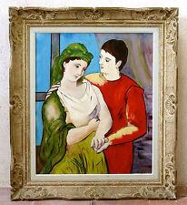 PICASSO,les amoureux,belle copie d'après picasso,1962,cadre montparnasse, PRIETO