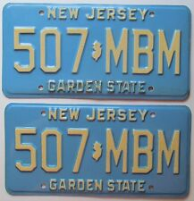 New Jersey 1979 License Plate PAIR - NICE QUALITY # 507-MBM