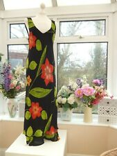 STUNNING! *JOSEPH RIBKOFF* BRIGHT FLORAL SPLIT HEM FLAMENCO STYLE PARTY DRESS 12