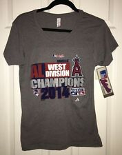 New MLB Baseball Los Angeles Angels Of Anaheim 2014 AL West Champs Shirt Size M