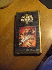 STAR WARS: THE PHANTOM MENACE EPISODE 1 vhs 1999 jewel case & UNIQUE LITHO CARD!