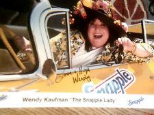 WENDY KAUFMAN SNAPPLE LADY TV LEGEND  AUTOGRAPHED 8X10 PHOTOGRAPH