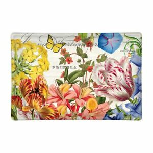 Michel Design Works Glass Trinket / Soap Dish Summer Days Floral Butterfly NEW
