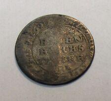 1763 German State - Mecklenberg 1/12 Thaler Silver Coin KM # 57