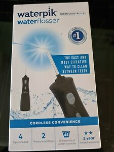 Waterpik Black Cordless Plus Water Jet Flosser Wp462 Include 4 Changeable Tips