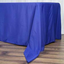 "5 Pk Royal Blue 72x120""  Polyester Rectangle Seamless Tablecloth Wedding Party"