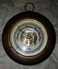 Vintage German Barometer Wood and Brass - Wall Hanging - Nice
