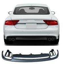 Diffuser Für Audi A7 S7 4G Spoiler RS7 Grill Platiniumgrau Stoßstange #14