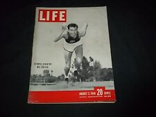 1948 AUGUST 2 LIFE MAGAZINE - OLYMPIAN MEL PATTON -BEAUTIFUL FRONT COVER- GG 237