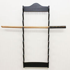 8 Tier Wall Mounted Sword Display Rack Stand Bracket Black Holder Samurai Kendo