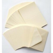 "10 ivory cream 5"" x 7"" 225GSM CARD BLANKS with ENVELOPES card making supplies"