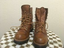 VINTAGE USA brown IRISH SETTER  RED WING WORK FARM PACKER TRUCKER BOOTS 8 D