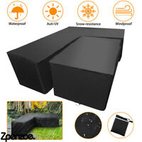 Outdoor Waterproof Rattan Corner Furniture Cover Garden Sofa Protector L Shaped