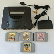 Genuine Nintendo 64 Console Black NTSC-J JAPAN N64 4 x Games Kirby Yoshi Bundle