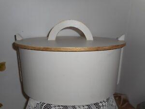 Scandinavian style vintage handmade wooden box