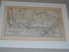 Original Map of the Grand Trunk Pacific Railway Projected Route from 1908