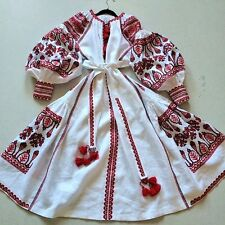 Vita Kin Style Embroidered Dress Ukrainian Embroidery Vyshyvanka XS S M L XL XXL